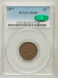Indian Cents: , 1877 1C VG8 PCGS. CAC. PCGS Population (289/2138). NGC Census:(196/1298). Mintage: 852,500. Numismedia Wsl. Price for prob...