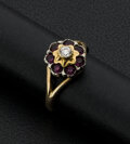 Estate Jewelry:Rings, Amethyst Gold Ring. ...