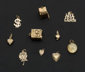 Estate Jewelry:Other , Ten 14k Gold Charms. ... (Total: 10 Items)