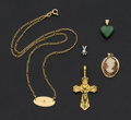 Estate Jewelry:Pendants and Lockets, Five Gold Pendants. ... (Total: 5 Items)
