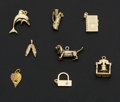 Estate Jewelry:Other , Eight Gold Charms. ... (Total: 8 Items)