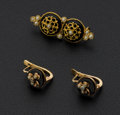 Estate Jewelry:Coin Jewelry and Suites, Vintage 18k Gold Pin & Earrings. ...