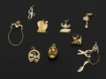 Estate Jewelry:Other , Eleven 14k Gold Charms. ... (Total: 11 Items)