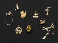 Eleven 14k Gold Charms