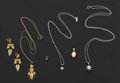 Estate Jewelry:Other , Earrings & Five Gold Pendants. ... (Total: 6 Items)