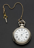 Timepieces:Pocket (pre 1900) , W.G. Rice Choice Lever Fusee Silver Pair Case Pocket Watch. ...