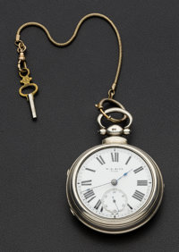 W.G. Rice Choice Lever Fusee Silver Pair Case Pocket Watch