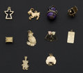 Estate Jewelry:Other , A Lot Of Ten Gold Charms. ... (Total: 10 Items)