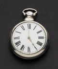 Timepieces:Pocket (pre 1900) , Shepperley From Nottingham Verge Fusee Silver Pair Case PocketWatch. ...