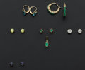 Estate Jewelry:Lots, A Lot of Six Gold Earrings & One Pendant. ... (Total: 6 Items)