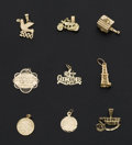 Estate Jewelry:Other , A Lot Of Nine Gold Charms. ... (Total: 9 Items)