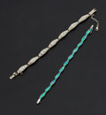 Estate Jewelry:Bracelets, Two Opal & Sterling Silver Bracelets. ... (Total: 2 Items)