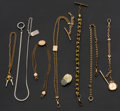 Timepieces:Watch Chains & Fobs, Seven Watch Chain & Fobs & One Elk's Tooth Fob. ... (Total: 8 Items)