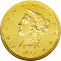 Liberty Eagles: , 1841 $10 AU58 NGC. Most certified examples of this seldom seenissue reside in XF40 to AU55 holders. Pieces with substantia...