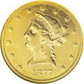 Liberty Eagles: , 1877-CC $10 --Cleaned--ANACS. XF40 Details. A polished and unnaturally bright lemon-gold example of this rare Carson City is...