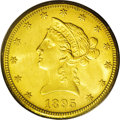 Liberty Eagles: , 1895-O $10 MS63 PCGS. Amber-gold borders and orange-gold centers, with good luster and a bold strike. This issue is common ...