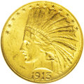 Indian Eagles: , 1913-S $10 MS60 NGC. The former undisputed condition rarity in theIndian Head eagle series, now edged out by the 1911-D in...