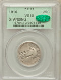 Standing Liberty Quarters: , 1916 25C VG10 PCGS. CAC. PCGS Population (87/863). NGC Census:(26/439). Mintage: 52,000. Numismedia Wsl. Price for problem...