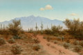 Texas:Early Texas Art - Regionalists, AUDLEY DEAN NICOLS (American, 1875-1941). Indian Oasis,Arizona, 1919. Oil on canvas. 16 x 24 inches (40.6 x 61.0 cm).S...