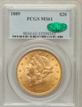 Liberty Double Eagles: , 1889 $20 MS61 PCGS. CAC. PCGS Population (102/153). NGC Census:(167/199). Mintage: 44,000. Numismedia Wsl. Price for probl...