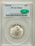 Standing Liberty Quarters: , 1929-D 25C MS64 PCGS. CAC. PCGS Population (295/186). NGC Census:(204/127). Mintage: 1,358,000. Numismedia Wsl. Price for ...