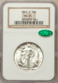 Walking Liberty Half Dollars: , 1944-S 50C MS65 NGC. CAC. NGC Census: (1232/200). PCGS Population(2545/425). Mintage: 8,904,000. Numismedia Wsl. Price for...