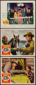 """Movie Posters:Western, Across the Wide Missouri & Others Lot (MGM, 1951). Lobby Cards(3) (11"""" X 14"""") & Reissue Press Sheets (6) (8.5"""" X 11"""").West... (Total: 9 Items)"""