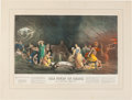 Books:Prints & Leaves, [Hand-Colored Print]. Rembrandt Peale. The Court of Death.New York, 1859. Large hand-colored allegorical print afte...