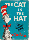 Books:Children's Books, Dr. Seuss. The Cat in the Hat. [New York]: Random House, [1957]. First edition. Signed by the author in blue ball-...