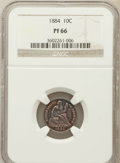 Proof Seated Dimes, 1884 10C PR66 NGC....
