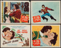 """Movie Posters:Swashbuckler, The Gallant Blade (Columbia, 1948). Title Lobby Card and Lobby Cards (3) (11"""" X 14""""). Swashbuckler.. ... (Total: 4 Items)"""
