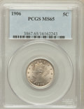 Liberty Nickels: , 1906 5C MS65 PCGS. PCGS Population (116/13). NGC Census: (85/6).Mintage: 38,613,724. Numismedia Wsl. Price for problem fre...