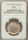 Commemorative Silver: , 1926 50C Sesquicentennial MS65 NGC. NGC Census: (274/12). PCGSPopulation (286/8). Mintage: 141,120. Numismedia Wsl. Price ...