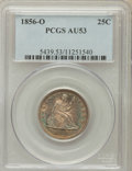Seated Quarters: , 1856-O 25C AU53 PCGS. PCGS Population (4/25). NGC Census: (3/41).Mintage: 968,000. Numismedia Wsl. Price for problem free ...