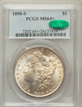 Morgan Dollars: , 1890-S $1 MS64+ PCGS. CAC. PCGS Population (2890/795). NGC Census:(2120/418). Mintage: 8,230,373. Numismedia Wsl. Price fo...