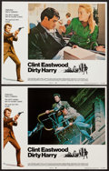 """Movie Posters:Crime, Dirty Harry (Warner Brothers, 1971). Lobby Cards (2) (11"""" X 14""""). Crime.. ... (Total: 2 Items)"""