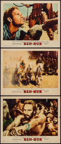 "Movie Posters:Academy Award Winners, Ben-Hur (MGM, 1959). Lobby Cards (3) (11"" X 14""). Academy Award Winners.. ... (Total: 3 Item)"