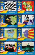 "Movie Posters:Animation, Yellow Submarine (UA/MGM, R-1999). Lobby Card Set of 8 (11"" X 14"").Animation.. ... (Total: 8 Items)"