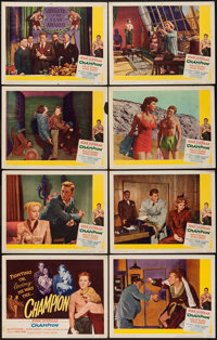 """Champion (United Artists, 1949). Lobby Card Set of 8 (11"""" X 14""""). Sports. ... (Total: 8 Items)"""