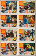 """Movie Posters:Western, The Lusty Men (RKO, 1952). Lobby Card Set of 8 (11"""" X 14""""). Western.. ... (Total: 8 Items)"""