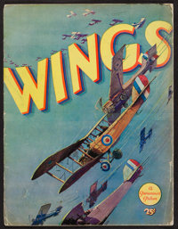 "Wings (Paramount, 1927). Program (Multiple Pages, 9"" X 12""). Academy Award Winners"