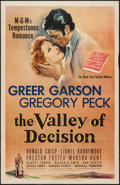 "Movie Posters:Drama, The Valley of Decision (MGM, 1945). One Sheet (27"" X 41""). Drama.. ..."