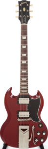 Musical Instruments:Electric Guitars, 1962 Gibson SG Standard Cherry Solid Body Electric Guitar, Serial #42470....