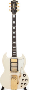 Musical Instruments:Electric Guitars, 1963 Gibson SG Custom White Solid Body Electric Guitar, Serial #122336....