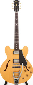 Musical Instruments:Electric Guitars, 1959 Gibson ES-335 Natural Semi-Hollow Body Electric Guitar, Serial# A29051....