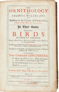 Books:Natural History Books & Prints, [Francis] Willughby and John Ray. The Ornithology of Francis Willughby of Middleton in the County of Warwick Esq; Fellow...