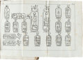 Books:World History, Jean Francois Champollion. Precis du Systeme Hieroglyphique des Anciens Egyptiens... Planches et Explication. Pari... (Total: 2 Items)