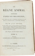 Books:Science & Technology, Baron Georges L.C. Cuvier. Le Regne Animal Distribue d'apres sonOrganisation, pour server de Base a L'Histoire Naturell... (Total:4 Items)