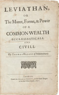 Books:Philosophy, Thomas Hobbes. Leviathan, or The Matter, Forme, & Power of aCommon-Wealth Ecclesiastical and Civill. London: Andrew...