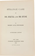 Books:Literature Pre-1900, Robert Louis Stevenson. Strange Case of Dr Jekyll and MrHyde. Authorized Edition. New York: Charles Scribner's Sons...